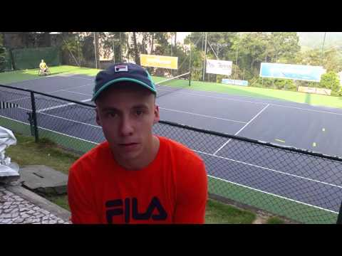 Andy Lapthorne at Tennis Foundation simulation camp in Sao Paulo