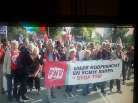 anti-TTIP demonstratie  Amsterdam Netherlands