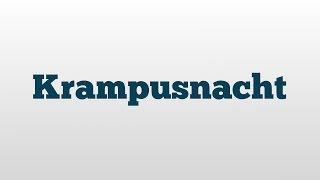 Krampusnacht meaning and pronunciation