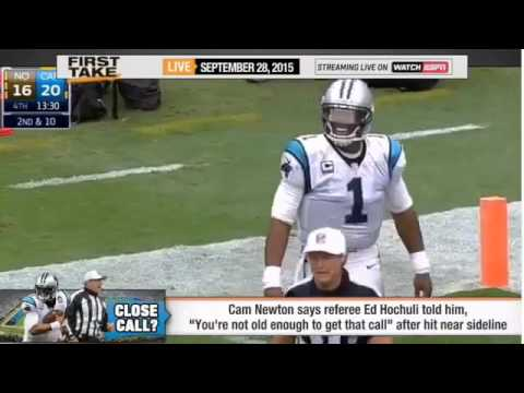 Espn First Take Cam Newton Exchange Words With R
