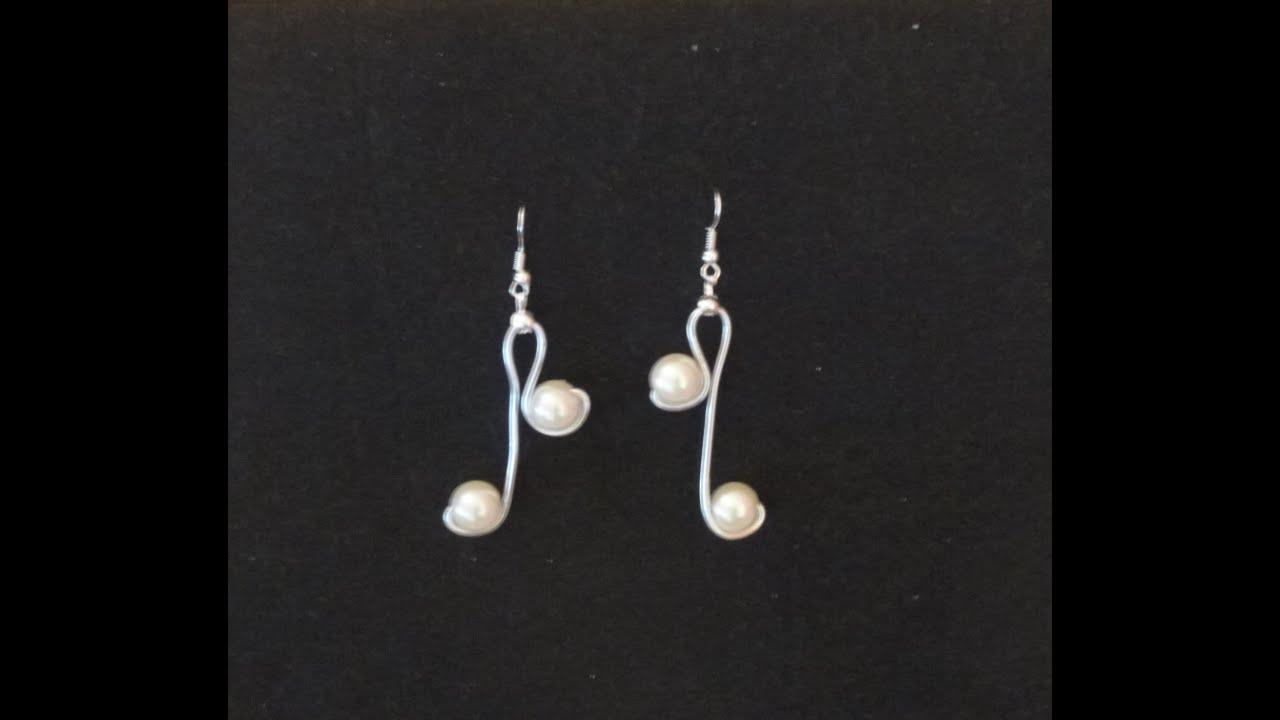 bfa9c884c920 Como hacer unos pendientes de alambre de aluminio y perlas by Encarguitos  Bisutería Artesana