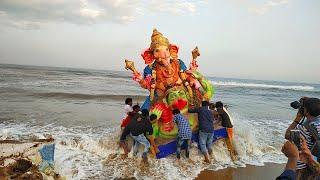 Ganesh visarjan in india   ganapati visarjan celebration   How vinayagar  idol immersion is done  