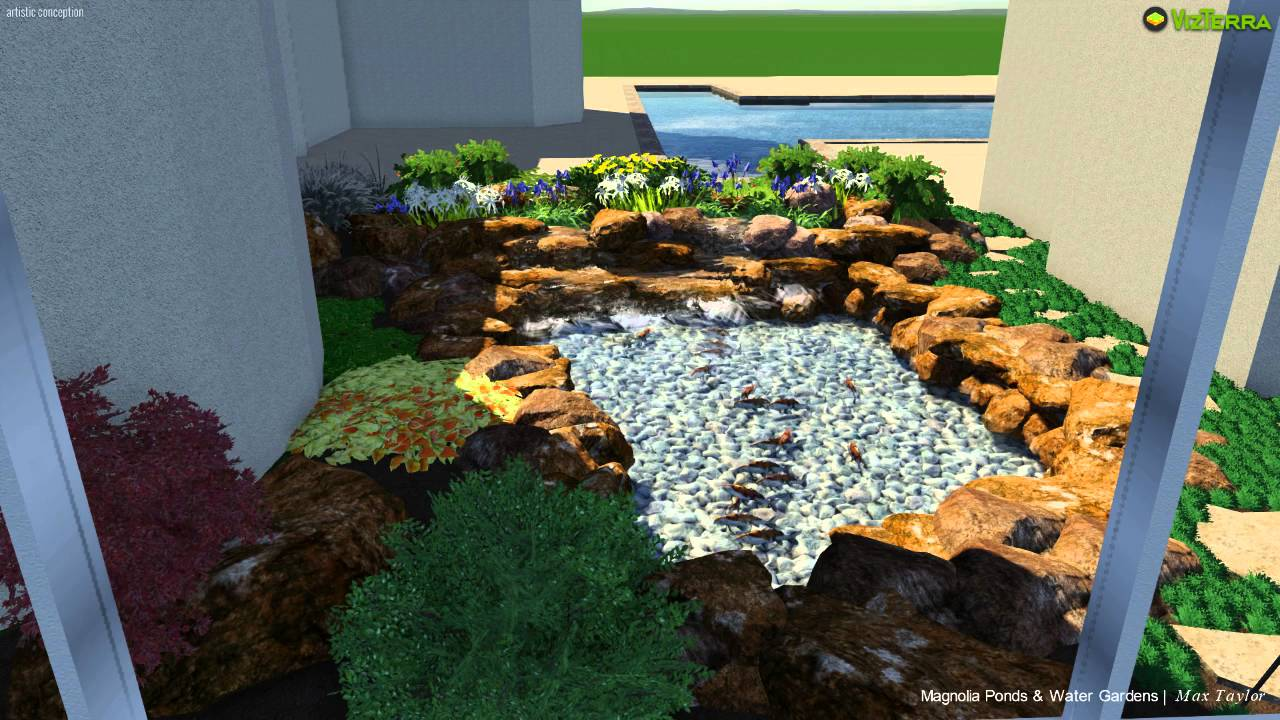 Koi pond design the woodlands youtube for Koi pond the woodlands tx