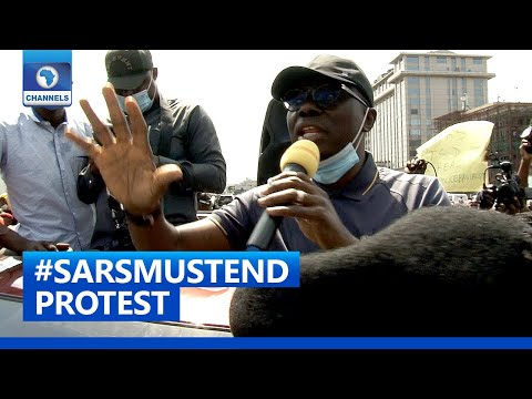 [FULL VIDEO]#SARSMustEnd: 'Your Voice Has Been Heard Clearly', Sanwo-Olu Tells Protesters