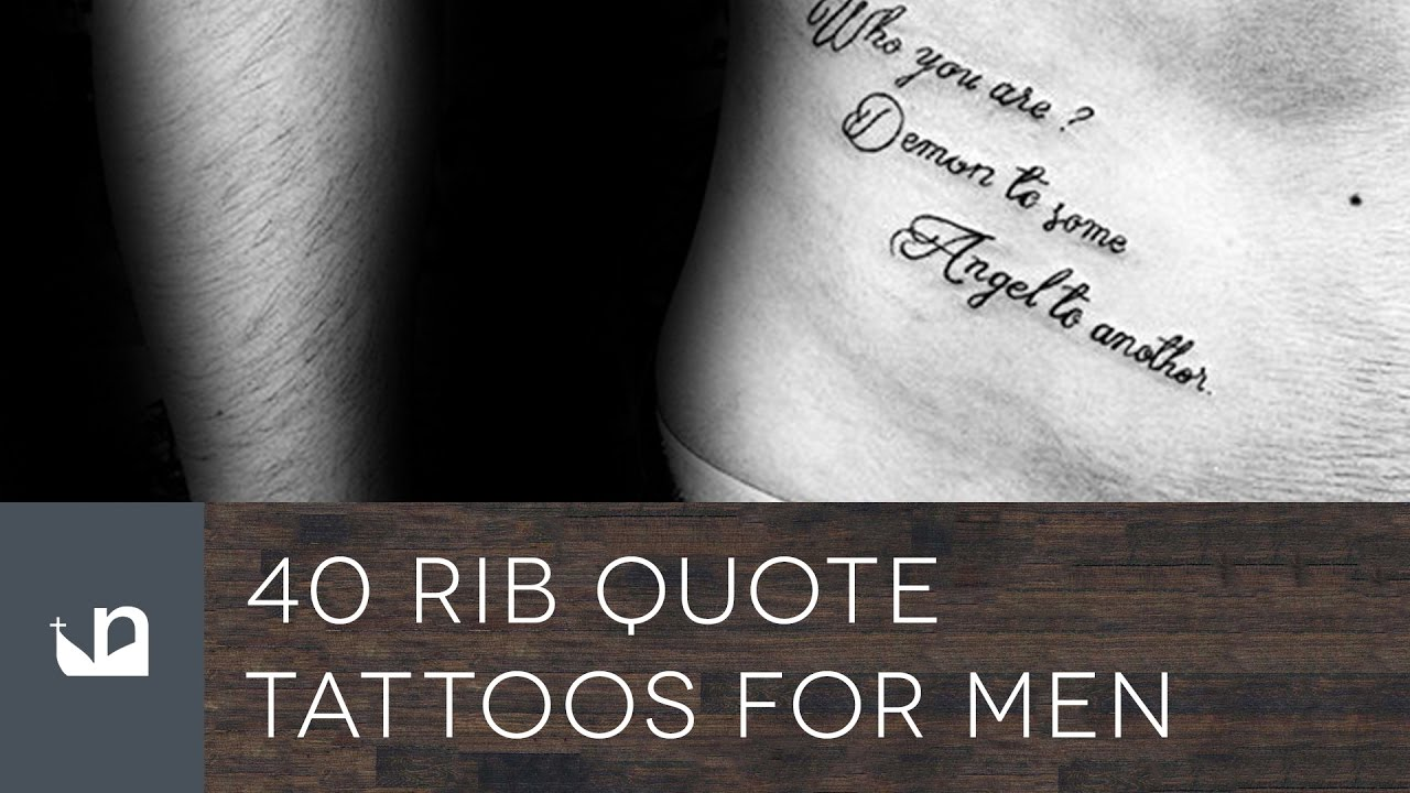 40 Rib Quote Tattoos For Men