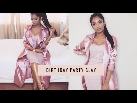 GRWM Birthday Party Slayy | Makeup, Hairstyle and Outfit | Get Ready with me
