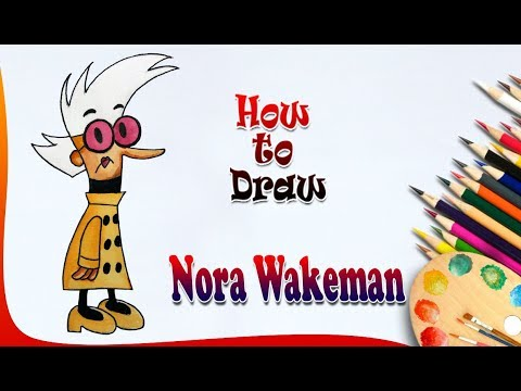 How to Draw Nora Wakeman || My Life as a Teenage Robot || Easy drawing for kids