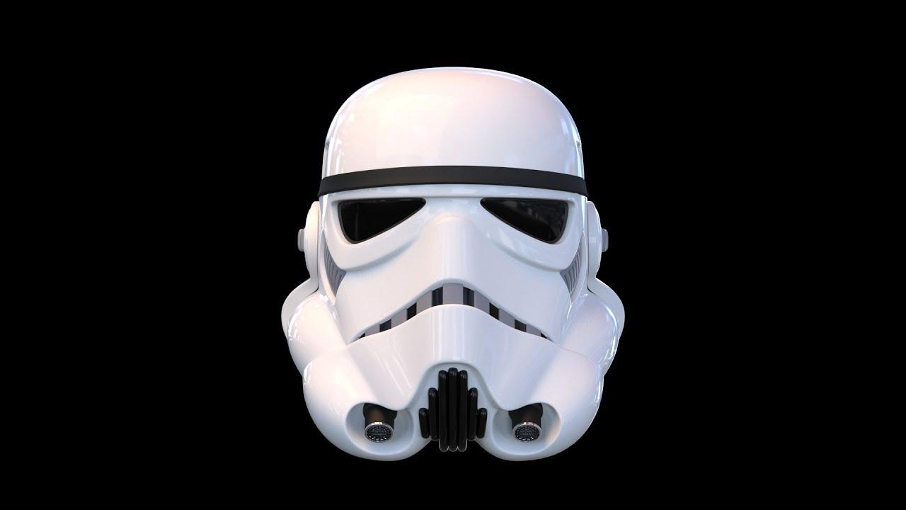 Red Mood Star Wars Stormtrooper Helmet Original 3d Time Lapse And