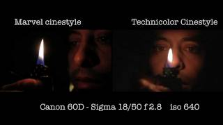 test marvel style vs technicolor cinestyle canon 60d with sigma 18 50 f 2 8