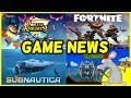 GAME NEWS Subnautica Issues - Portal Knights Update - Fortnite And Terraria Info Plus New Games
