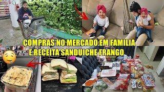 VLOG: COMPRAS NO MERCADO + RECEITA LANCHE NATURAL DE FRANGO DESFIADO ♡