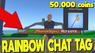 Playing roblox strucid new update and buying new pickaxe for 50,000 coins