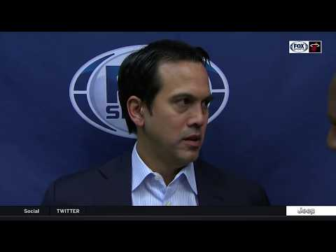 Erik Spoelstra -- Miami Heat at Milwaukee Bucks 01/17/18