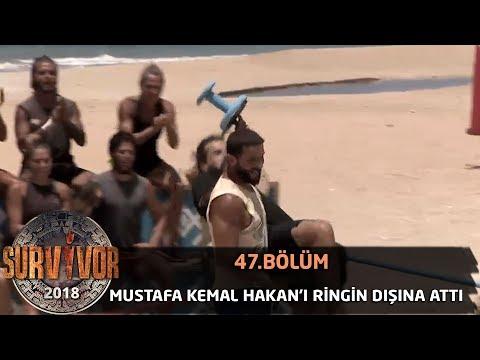 Mustafa Kemal Hakan'ı ringin dışına attı   47. Bölüm   Survivor 2018