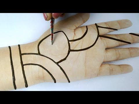 Easy Trick Hand Mehndi with Dots - Mehndi for Beginners,आसान मेहँदी ट्रिक्स सीखे