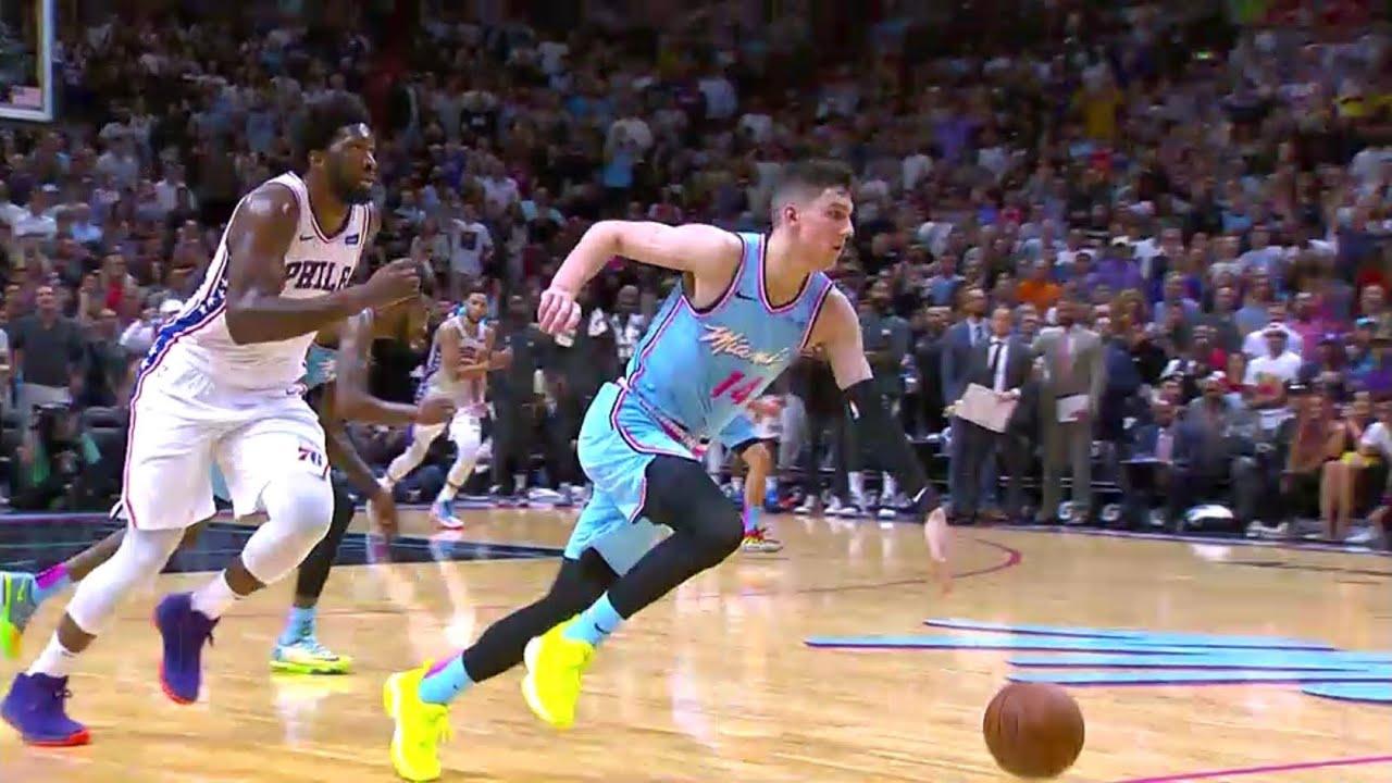 Tyler Herro CLUTCH Three Pointer! | 76ers vs Heat 12.28 ...