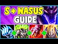 HOW TO PLAY NASUS TOP & SOLO CARRY In Season 10   Nasus Guide S10 - League Of Legends