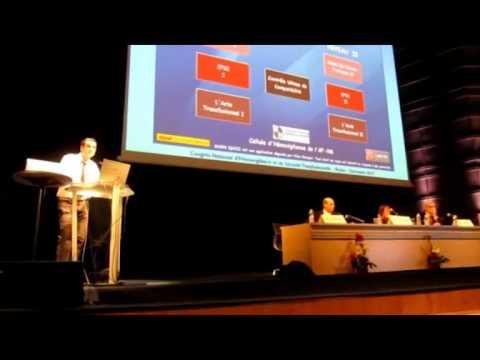 Présentation du Blood Quizz au congrès SFVTT 2010