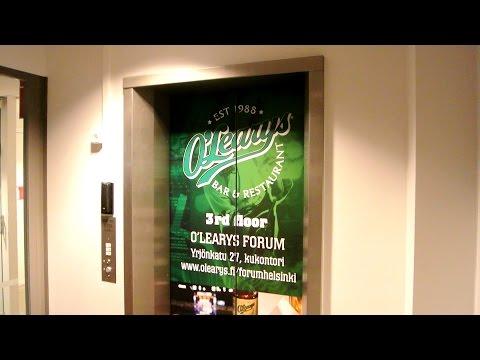 Original 1985 KONE hydraulic elevator @ O'Learys (Forum) in Helsinki, Finland