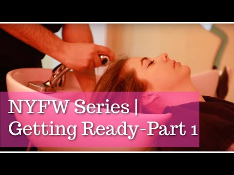 The Lunar Phase- NYFW Series  Getting Ready with Amika Salon Part 1
