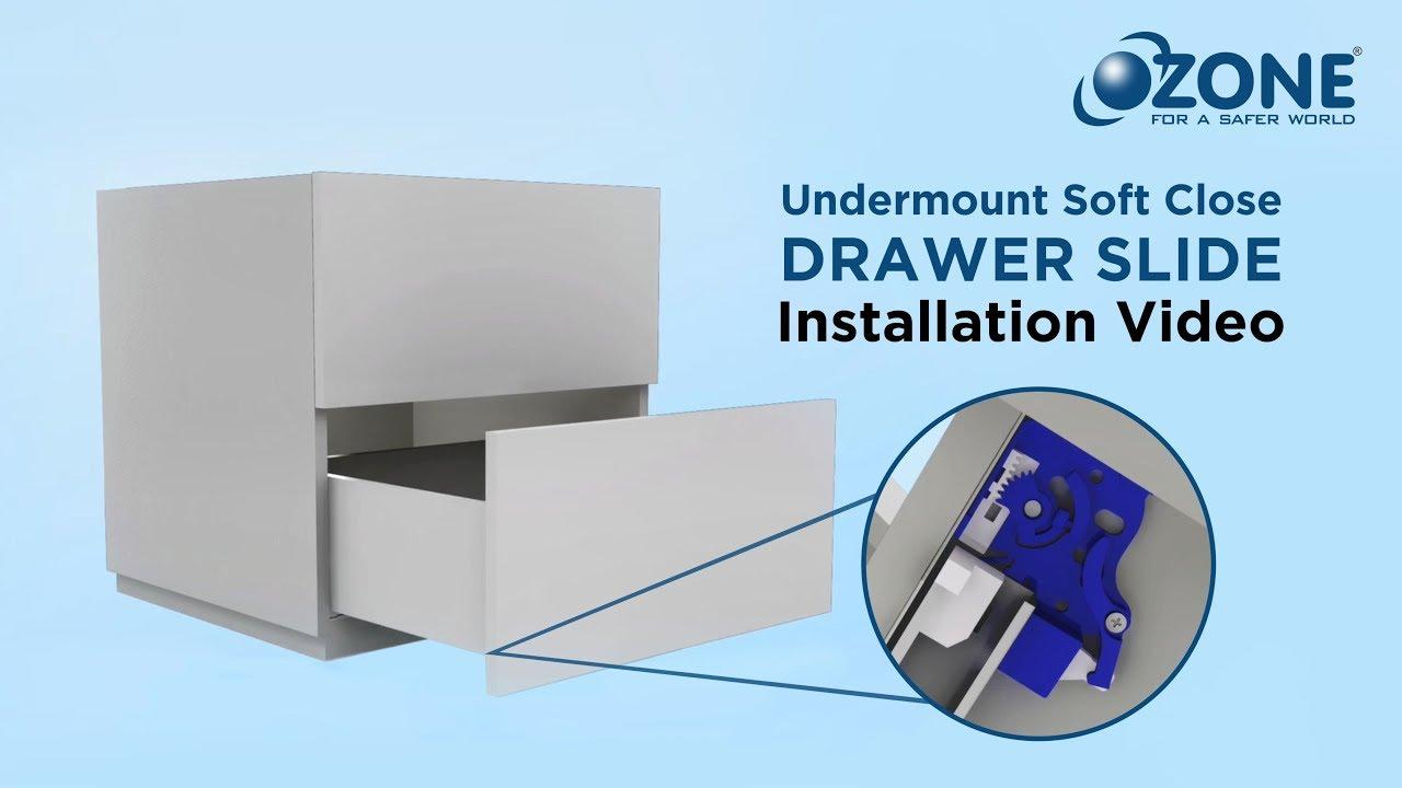 Ozone Undermount Soft Close Drawer Slide Installation Video