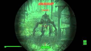 Fallout 4 Fails Alpha Deathclaw, my only attempt