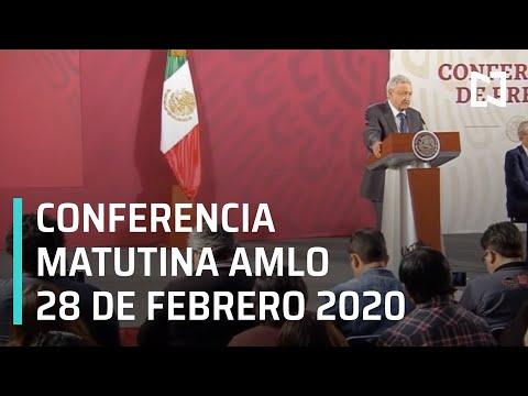 Conferencia matutina AMLO - Viernes 28 de febrero 2020