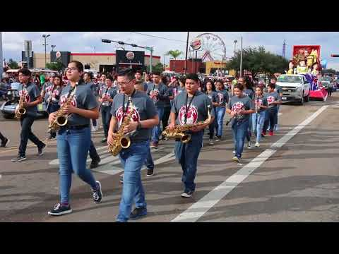 Mission CISD Bands Parade of Oranges