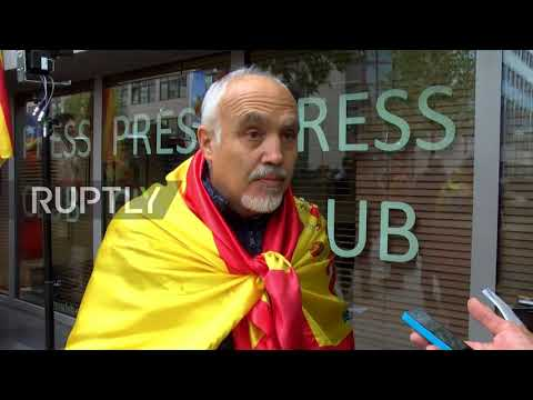 Belgium: Anti-Catalan independence protests rage outside Puigdemont Brussels presser