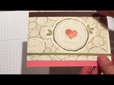 Wedding card Tree Rings with Always and Forever