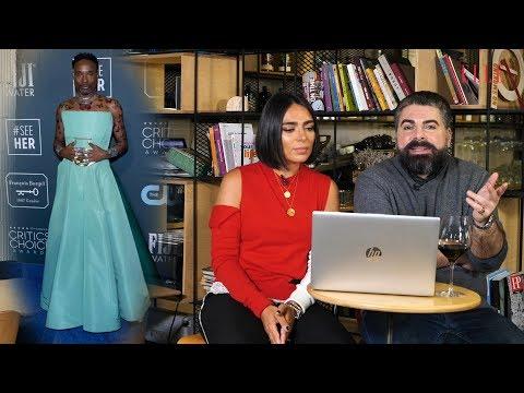 Maurice Munteanu și Domnica Mărgescu, Despre ținutele Vedetelor La Critics' Choice Awards