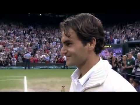 Fed twins at Wimbledon 2012's trophy ceremony