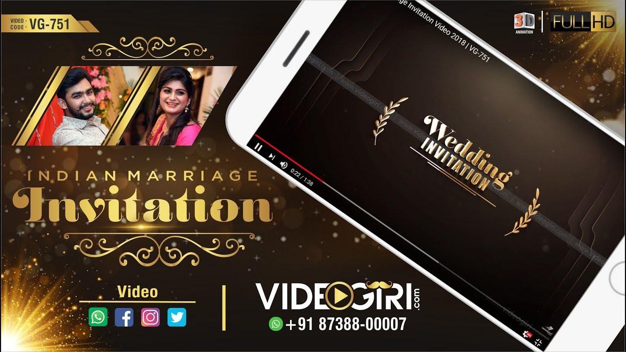 royal wedding invitation video maker  wedding video