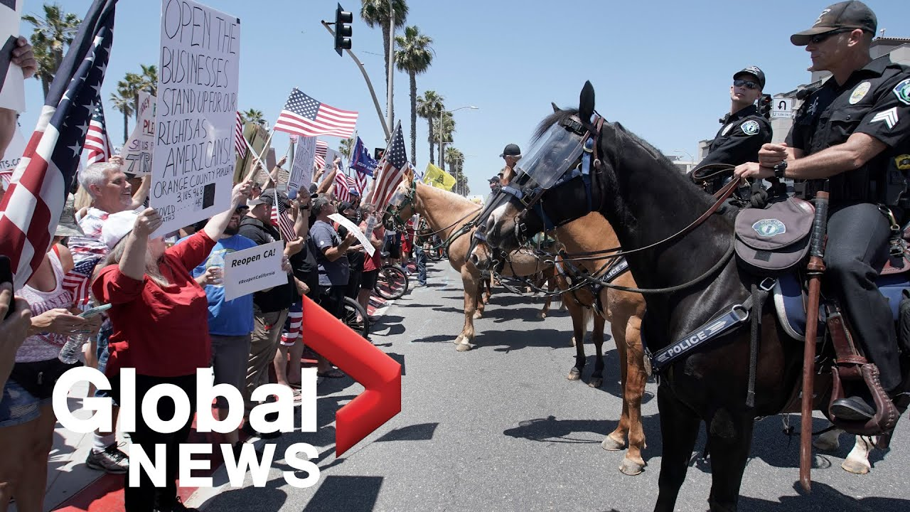 Coronavirus outbreak: Protesters in California demand end to COVID-19 lockdown