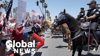 Coronavirus outbreak: Protesters in California demand end to COVID-19 lockdown