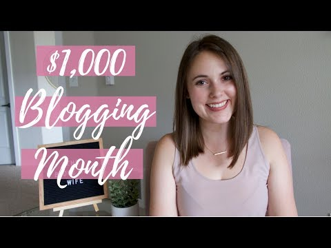 HOW I MADE MY FIRST $1,000 MONTH FROM BLOGGING