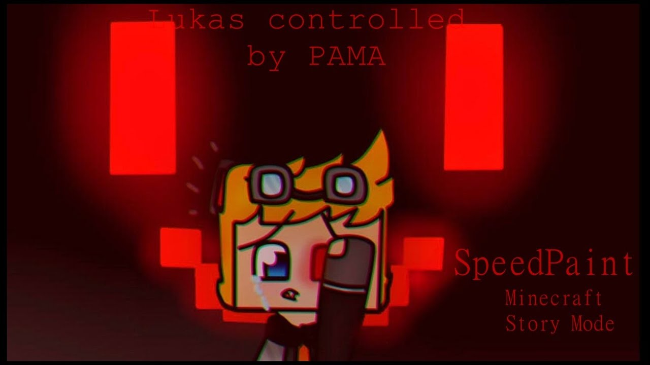 Speedpaint Minecraft Story Mode Lukas Controlled By Pama Youtube