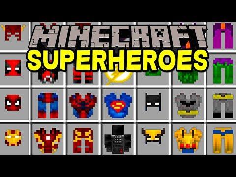 Minecraft SUPERHEROES MOD! | 100+ NEW SUPERHEROES, BATMAN, DEADPOOL, & MORE! | Modded Mini-Game