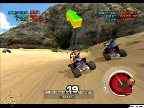 ATV Quad Power Racing 2 Nintendo Gamecube Racing Games Arcade Gameplay