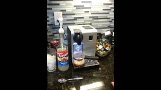 How to make an iced latte with the Nespresso machi