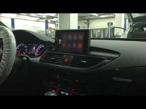 audi smartphone interface carplay android auto audi a6. Black Bedroom Furniture Sets. Home Design Ideas