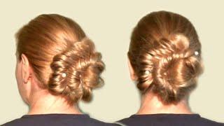 Красивый Пучок из Волос| Смотреть Видео Урок Онлайн Как Сделать Прическу| Beautiful bunch of hair.