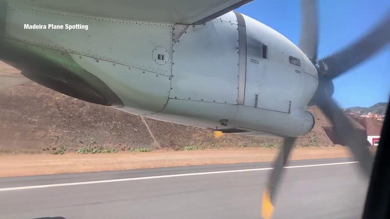 Aterragem no Aeroporto da Madeira ATR500-200 Binter Canarias