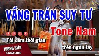 Karaoke Vầng Trán Suy Tư Tone Nam Nhạc Sống | Trọng Hiếu