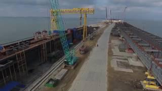 Крымский мост съёмка с коптера / Crimean bridge / 18.01.2017