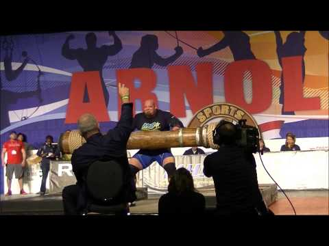 arnold classic 2015 strongman log press