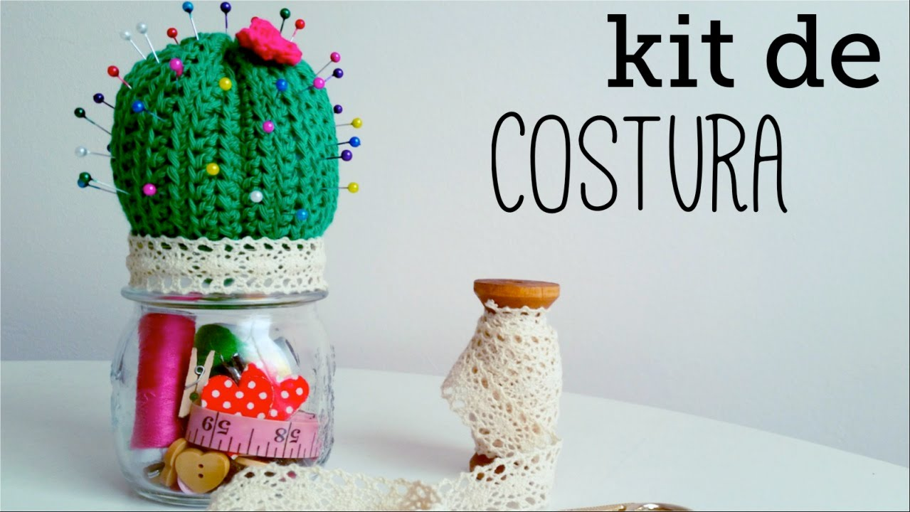 CACTUS a crochet - alfiletero / kit de costura - paso a paso - YouTube