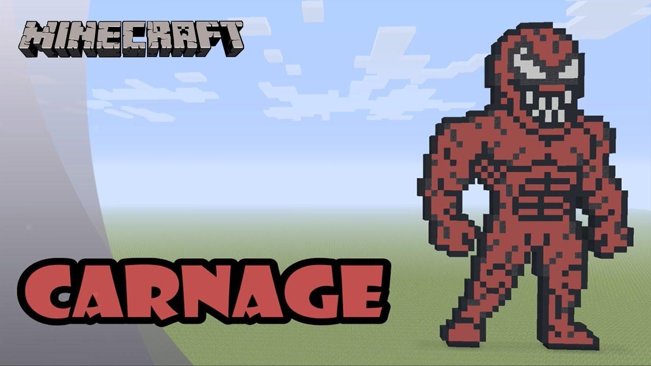 Minecraft: Pixel Art Tutorial: Carnage (Venom Movie) - YouTube