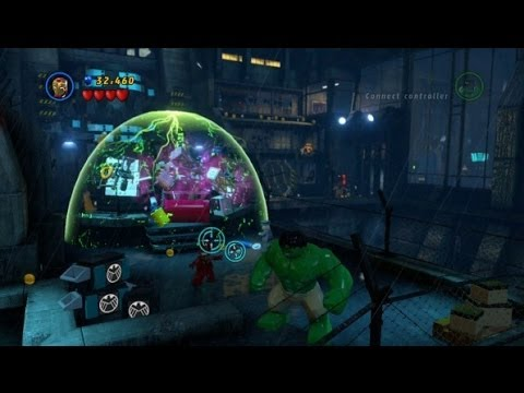 LEGO Marvel Super Heroes 100% Guide #4 - Rock up at the Lock up (All 10 Minikits, Stan Lee in Peril)