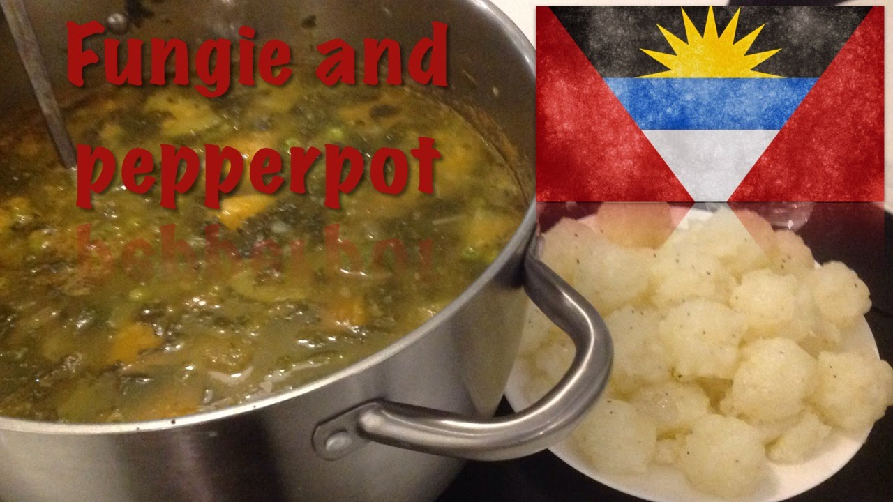 How to cook fungi and pepperpot the antiguan and barbudan for Antiguan cuisine